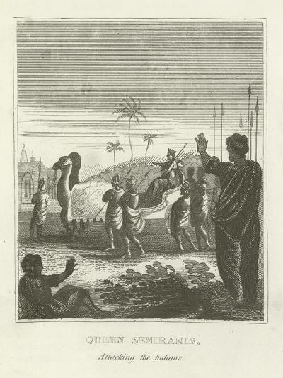 Queen Semiramis, Attacking the Indians--Giclee Print