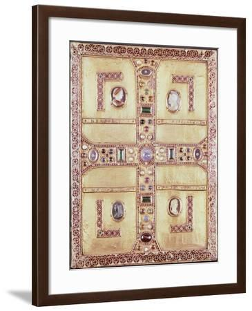 Queen Theodelinda's Gospel Book Cover in Gold, Cameos, Enamels and Precious Stones, Ca 603--Framed Giclee Print