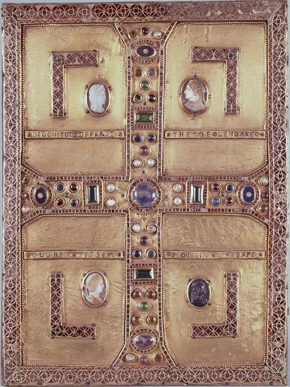 Queen Theodelinda's Gospel Book Cover in Gold, Cameos, Enamels and Precious Stones, Ca 603--Giclee Print