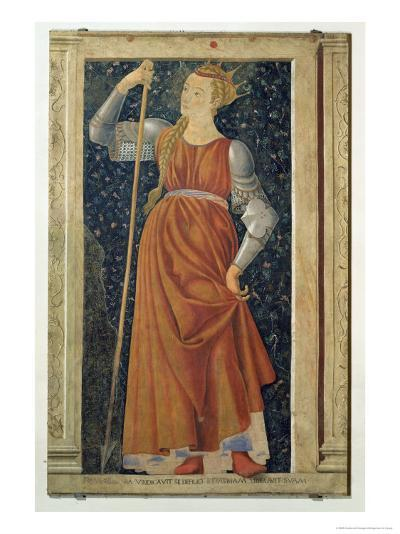 Queen Tomyris, from the Villa Carducci Series of Famous Men and Women, c.1450-Andrea del Castagno-Giclee Print