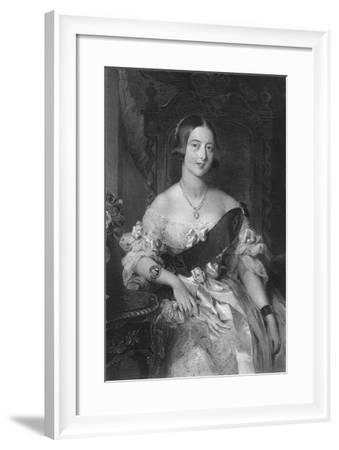Queen Victoria (1819-190), 1851-Frederick Bacon-Framed Giclee Print