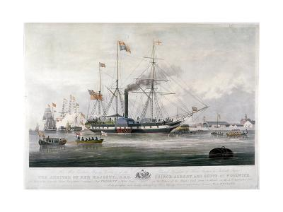 Queen Victoria and Prince Albert Arriving at the Royal Dockyard, Woolwich, Kent, 1843-E Duncan-Giclee Print