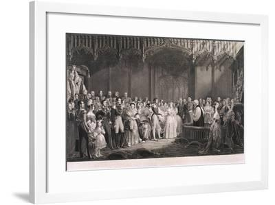 Queen Victoria and Prince Albert's Marriage in St James's Palace, London, 1840-George Hayter-Framed Giclee Print