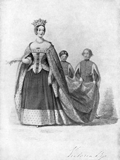 Queen Victoria as Queen Philippa at the Plantagenet Ball, Buckingham Palace, C1840s--Giclee Print