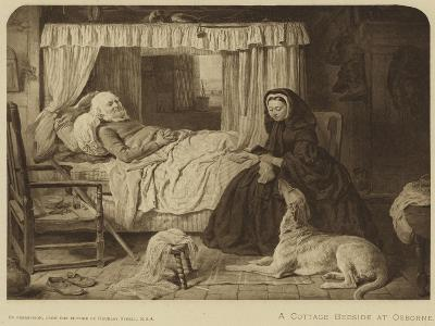 Queen Victoria at a Cottage Bedside at Osborne--Giclee Print