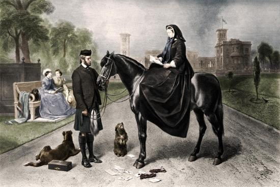 'Queen Victoria at Osborne House', 1865 (1906)-Unknown-Giclee Print