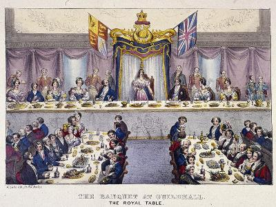 Queen Victoria at the Guildhall Banquet, London, 1837-W Lake-Giclee Print