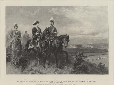Queen Victoria Attending a Review with the Prince Consort--Giclee Print
