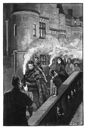 Queen Victoria Celebrating Halloween at Balmoral, Late 19th Century-S Stacey-Giclee Print