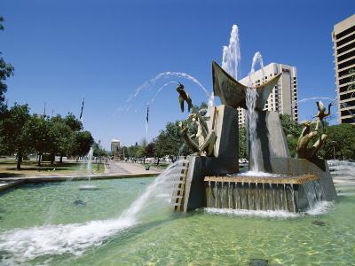 Queen Victoria Fountain, Victoria Square, Adelaide, South Australia, Australia-Neale Clarke-Photographic Print