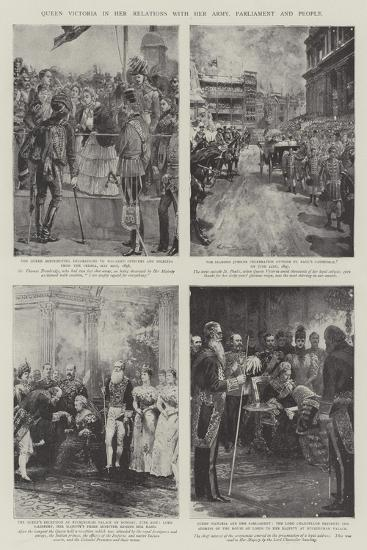 Queen Victoria in Her Relations with Her Army, Parliament and People-William Heysham Overend-Giclee Print