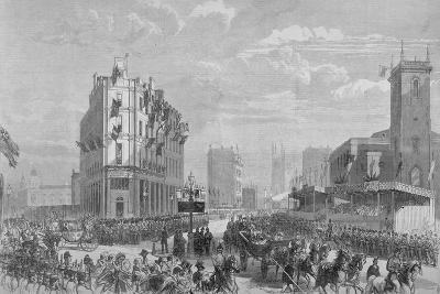 Queen Victoria in Holborn Circus on Her Way to the Opening of Holborn Viaduct, London, 1869--Giclee Print
