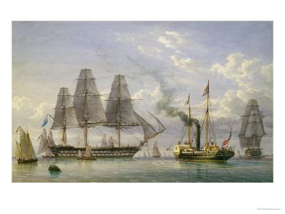 Queen Victoria on the Royal Yacht-William Joy-Giclee Print