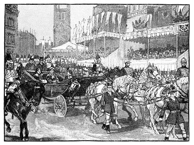 Queen Victoria Opening Holborn Viaduct, London, 1869--Giclee Print