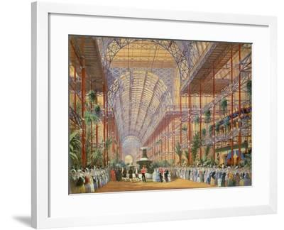 Queen Victoria Opening the 1862 Exhibition after Crystal Palace Moved to Sydenham-Joseph Nash-Framed Giclee Print