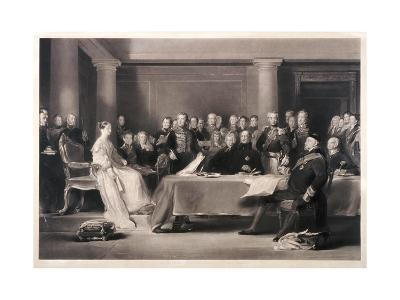 Queen Victoria Presiding at the Council on Her Accession to the Throne, 1846-Charles Fox-Giclee Print