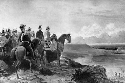 Queen Victoria Reviewing Her Troops, Aldershot, 1856-C Thomas-Giclee Print