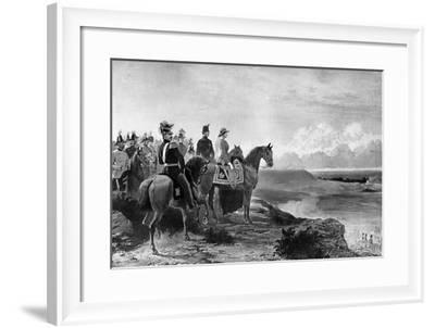 Queen Victoria Reviewing Her Troops, Aldershot, 1856-C Thomas-Framed Giclee Print