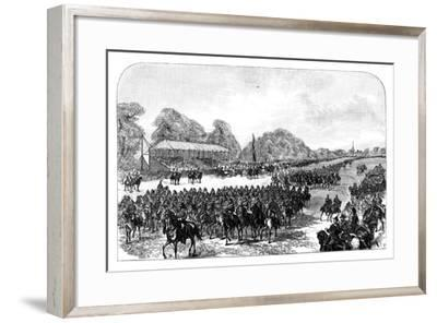 Queen Victoria Reviewing Volunteers in the Great Park, Windsor, Berkshire, Late 19th Century--Framed Giclee Print