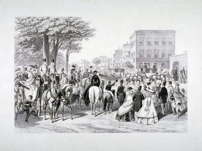 Queen Victoria Riding in a Carriage in Hyde Park, Westminster, London, C1840--Giclee Print