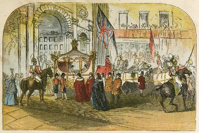 Queen Victoria's First Visit to the City (9 November 1837)-English School-Giclee Print