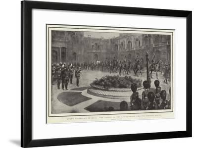 Queen Victoria's Funeral, the Coffin on the Gun-Carriage Leaving Osborne House-William T. Maud-Framed Giclee Print