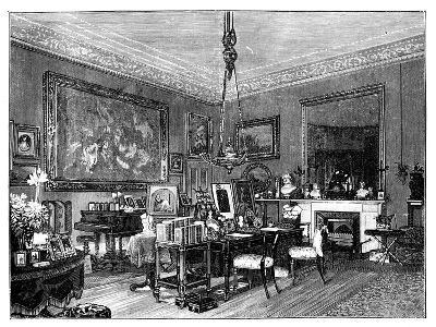 Queen Victoria's Private Sitting-Room, Osborne House, Isle of Wight--Giclee Print