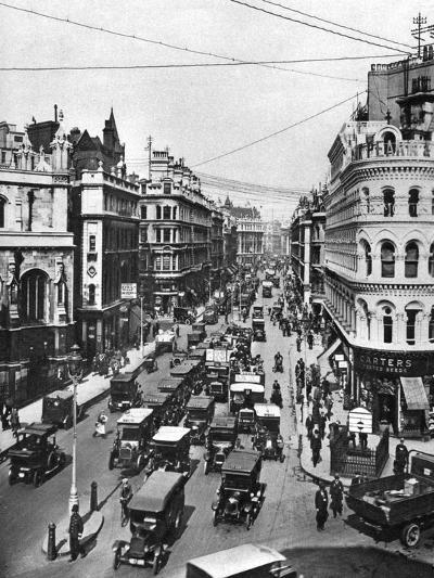 Queen Victoria Street at its Intersection with Cannon Street, London, 1926-1927- Frith-Giclee Print