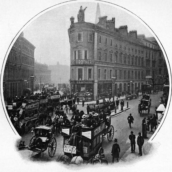 Queen Victoria Street (junction with Cannon Street), City of London, c1903-Unknown-Photographic Print