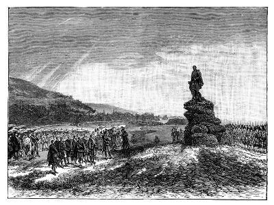 Queen Victoria Unveiling a Statue of Prince Albert at Balmoral, Scotland, 1860S--Giclee Print