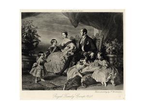 Queen Victoria with Albert and Five Children