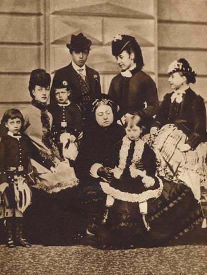 Queen Victoria with her daughter-in-law and grandchildren, c1880 (1935)-Unknown-Photographic Print