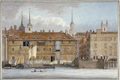 Queenhithe Flour Wharf, City of London, 1801-Charles Tomkins-Giclee Print