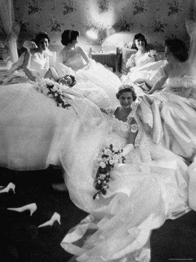 Queens and Their Attendants Resting Between Dances During the Chattanooga Cotton Ball-Grey Villet-Photographic Print
