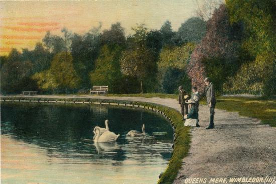 'Queens Mere, Wimbledon', c1910-Unknown-Giclee Print