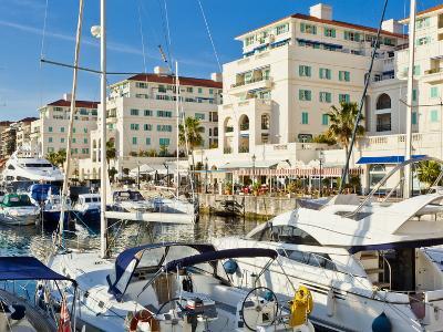 Queensway Quay Marina, Gibraltar, Mediterranean, Europe-Giles Bracher-Photographic Print