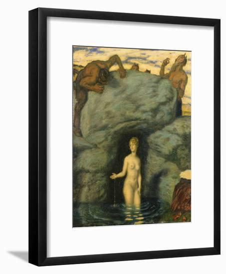 Quellnymphe von Faunen belauscht. 1911-Franz von Stuck-Framed Giclee Print