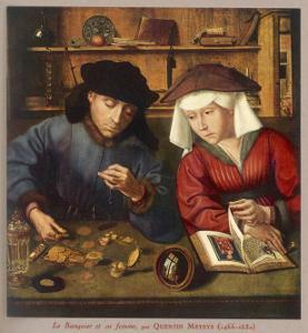Banker of the 16th Century with His Wife by Quentin Matsys