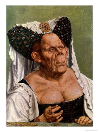 A Grotesque Old Woman, Possibly Princess Margaret of Tyrol, circa 1525-30