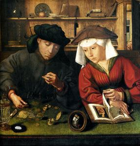 Money Changer with Wife by Quentin Metsys