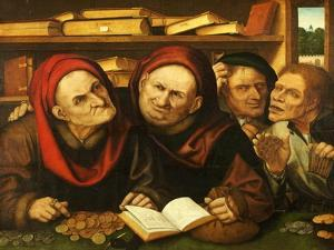Suppliant Peasants in the Office of Two Tax Collectors by Quentin Metsys