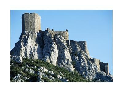 Queribus Castle, Perpignan, Languedoc-Roussillon, France, 13th-16th Century--Giclee Print