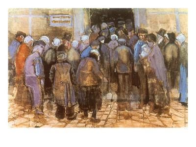 Queuing for Entrance, 1882-Vincent van Gogh-Giclee Print