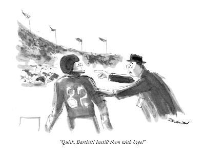 """Quick, Bartlett! Instill them with hope!"" - New Yorker Cartoon-James Stevenson-Premium Giclee Print"