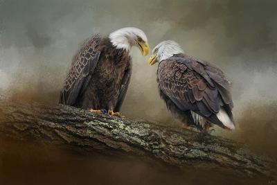 Quiet Conversation Bald Eagles-Jai Johnson-Giclee Print