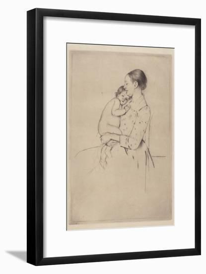 Quietude, c.1891-Mary Stevenson Cassatt-Framed Giclee Print