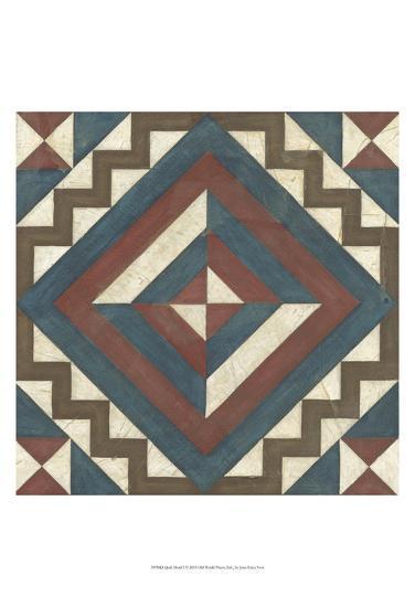 Quilt Motif I-Erica J^ Vess-Art Print