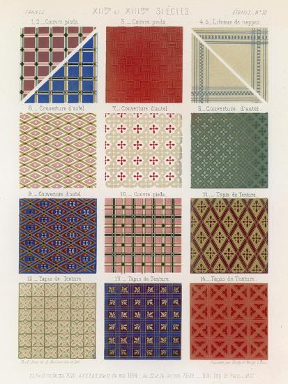 Quilts and Tapestries of the 12th and 13th Centuries--Giclee Print