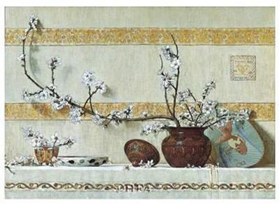Quince Blossoms-Charles Caryl Coleman-Art Print