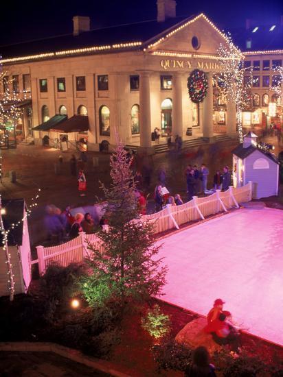 Christmas In Boston Massachusetts.Quincy Market At Christmas Boston Ma Photographic Print By James Lemass Art Com